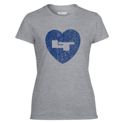LT Longmont Trojans Heart - Light Ladies Ultra Performance Active Lifestyle T Shirt Thumbnail