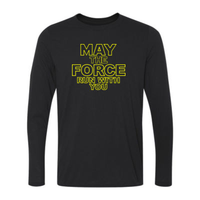 May The Force Run With You - Youth Long Sleeve Ultra Performance 100% Performance T Shirt Thumbnail