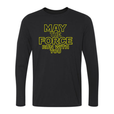 May The Force Run With You - Ladies Long Sleeve Ultra Performance 100% Performance T Shirt Thumbnail