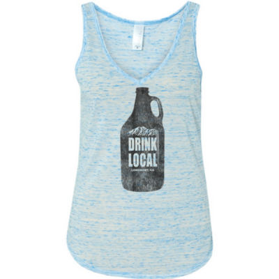 Drink Local Longmont Colorado - Ladies' Flowy V-Neck Tank Thumbnail