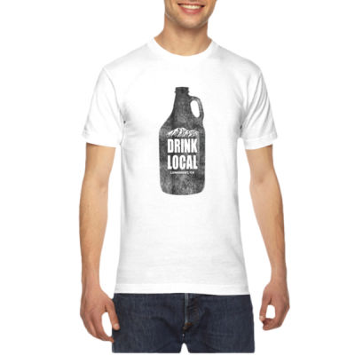 Drink Local Longmont Colorado - American Apparel Unisex T-Shirt Thumbnail
