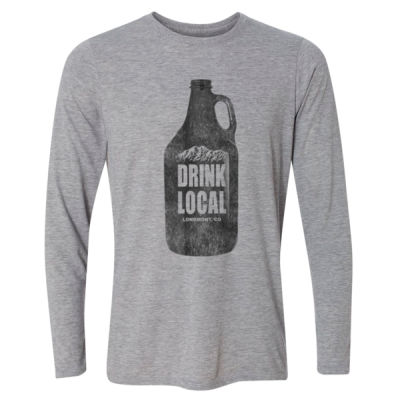 Drink Local Longmont Colorado - Light Long Sleeve Ultra Performance Active Lifestyle T Shirt Thumbnail