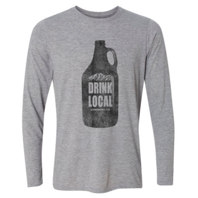 Drink Local Longmont Colorado - Light Youth Long Sleeve Ultra Performance Active Lifestyle T Shirt Thumbnail