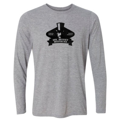 Mister Money Mustache - Light Long Sleeve Ultra Performance Active Lifestyle T Shirt Thumbnail