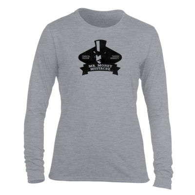 Mister Money Mustache - Light Ladies Long Sleeve Ultra Performance Active Lifestyle T Shirt Thumbnail