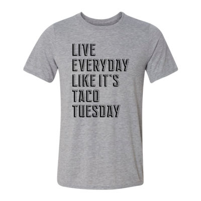 Live Everyday Like It's Taco Tuesday - Light Youth/Adult Ultra Performance Active Lifestyle T Shirt Thumbnail