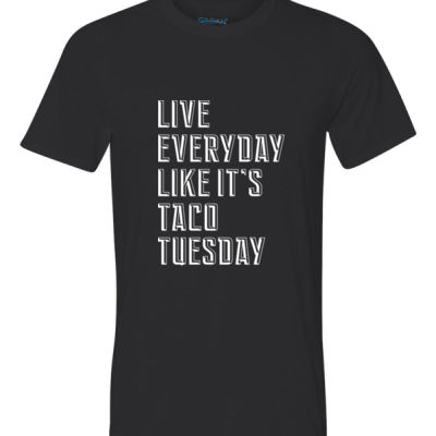 Live Everyday Like It's Taco Tuesday - Youth Ultra Performance Active Lifestyle T Shirt Thumbnail