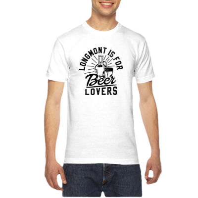 Longmont is for Beer Lovers - American Apparel Unisex T-Shirt Thumbnail