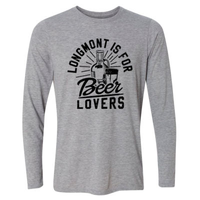 Longmont is for Beer Lovers - Light Youth Long Sleeve Ultra Performance Active Lifestyle T Shirt Thumbnail