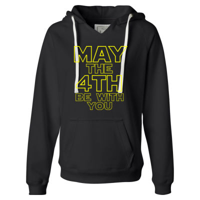 May the 4th Be With You - Ladies' Sueded V-Neck Hooded Sweatshirt Thumbnail