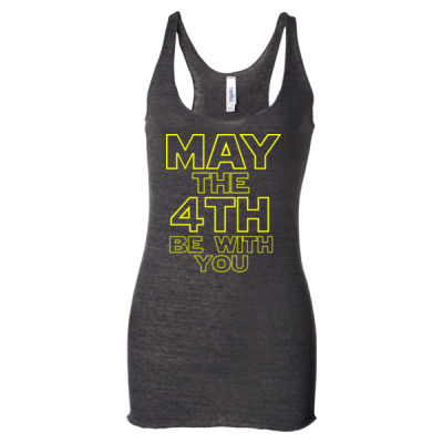 May the 4th Be With You - Ladies' Triblend Racerback Tank Top Thumbnail