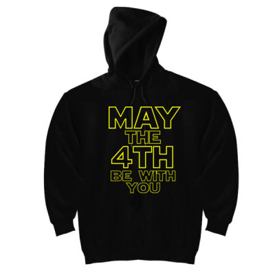 May the 4th Be With You - DryBlend™ Pullover Unisex Hooded Sweatshirt Thumbnail