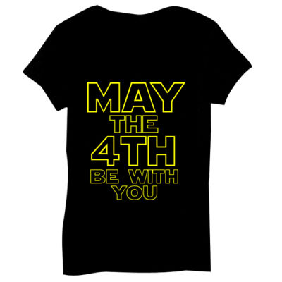 May the 4th Be With You - Bella Short-Sleeve V-Neck T-Shirt Thumbnail