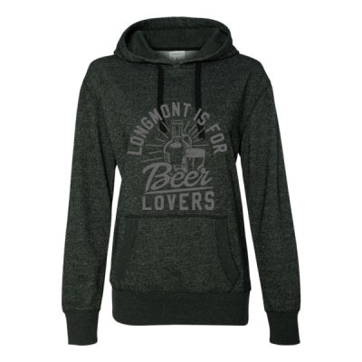 Longmont Is For Beer Lovers - Glitter Hoodie Thumbnail