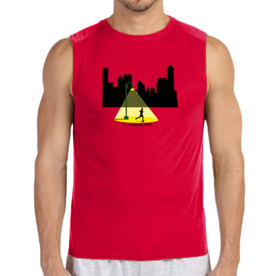 Others Sleep (Mens) - (S) Performance™ 4.5 oz. Sleeveless Light Color T-Shirt Thumbnail
