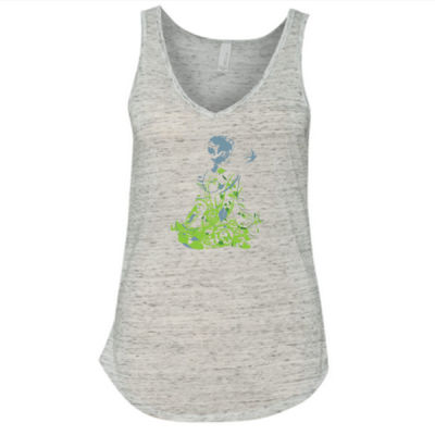 Inner Peace Yoga - Ladies' Flowy V-Neck Tank Thumbnail