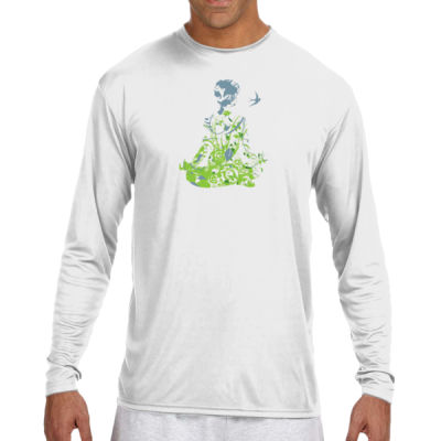 Inner Peace Yoga - (S) Long Sleeve Cooling Performance Crew Light Color Shirt Thumbnail