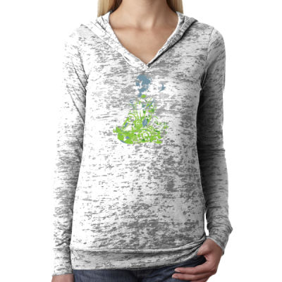 Inner Peace Yoga - Ladies' Burnout Hoodie Thumbnail
