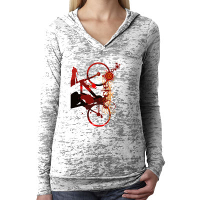Cycling - Ladies' Burnout Hoodie Thumbnail