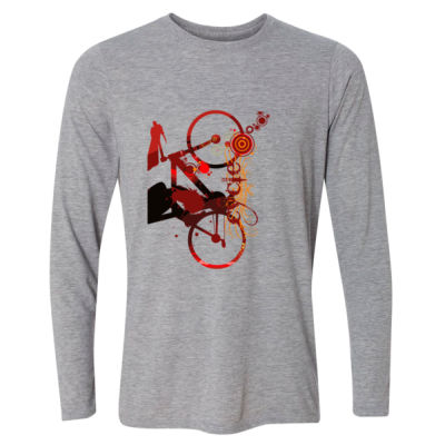 Cycling - Light Long Sleeve Ultra Performance Active Lifestyle T Shirt Thumbnail