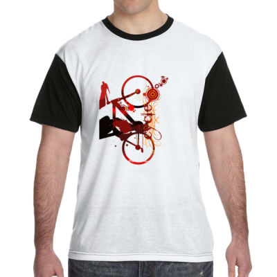 Cycling - White Shirt with Black Sleeves/Back T-Shirt Thumbnail