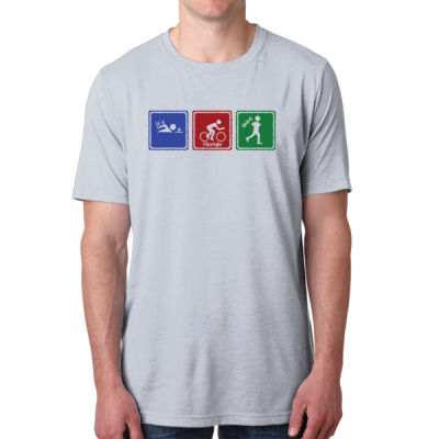 Signs of Tri - Men's Poly/Cotton Short-Sleeve Crew Tee Thumbnail