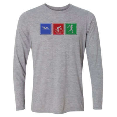 Signs of Tri - Light Long Sleeve Ultra Performance Active Lifestyle T Shirt Thumbnail