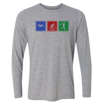 Signs of Tri - Light Youth Long Sleeve Ultra Performance Active Lifestyle T Shirt Thumbnail