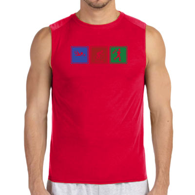 Signs of Tri - (S) Performance™ 4.5 oz. Sleeveless Light Color T-Shirt Thumbnail