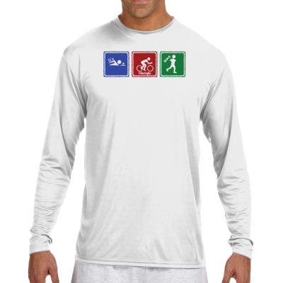 Signs of Tri - (S) Long Sleeve Cooling Performance Crew Light Color Shirt Thumbnail