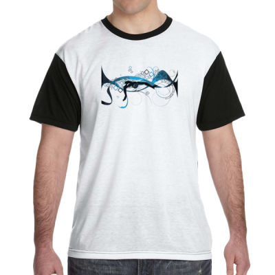 Making Waves Swimming - White Shirt with Black Sleeves/Back T-Shirt Thumbnail