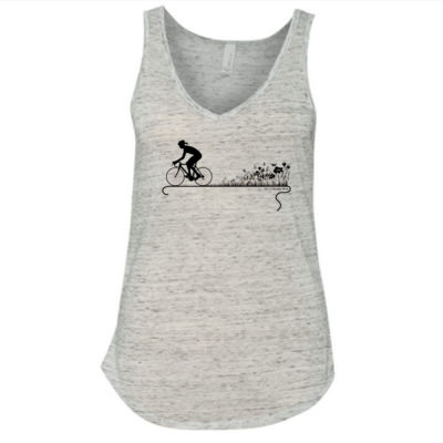 Nature Ride - Ladies' Flowy V-Neck Tank Thumbnail