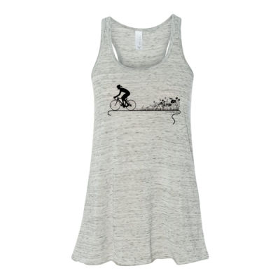 Nature Ride - Bella Ladies' Flowy Racerback Tank (S) Thumbnail