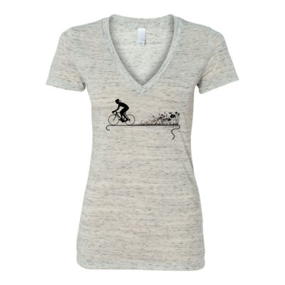 Nature Ride - Women's Jersey Short Sleeve Deep V-Neck Tee Thumbnail