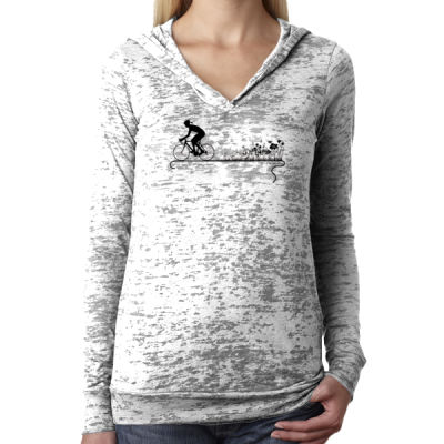 Nature Ride - Ladies' Burnout Hoodie Thumbnail