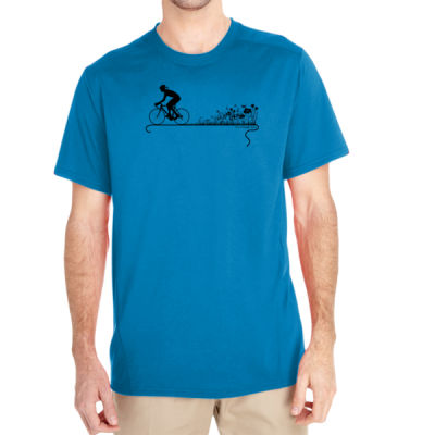 Nature Ride - (S) Unisex Tech Short-Sleeve Light Color T-Shirt Thumbnail