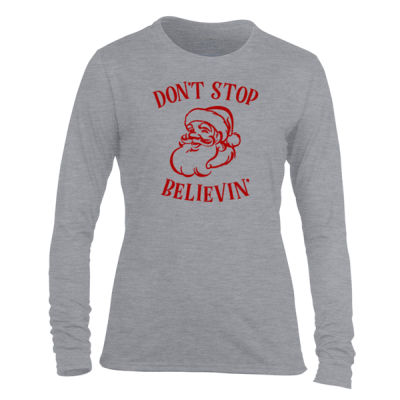 Don't Stop Believin' - Light Ladies Long Sleeve Ultra Performance Active Lifestyle T Shirt Thumbnail