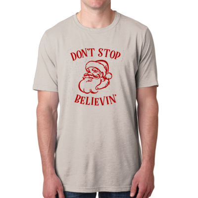 Don't Stop Believin' - Men's Poly/Cotton Short-Sleeve Crew Tee Thumbnail