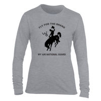 WY Air National Guard  - Light Ladies Long Sleeve Ultra Performance Active Lifestyle T Shirt Thumbnail