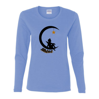 Childhood Cancer Awareness - Heavy Cotton Long Sleeve T-Shirt - Gildan Ladies Ultra Cotton™ Long Sleeve Missy Fit T Shirt 2 Thumbnail