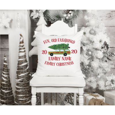 Fun, Old Fashioned Family Christmas  - Fun, Old-Fashion Family Christmas Throw Pillow (14