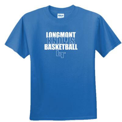 Longmont Knows Basketball White - Unisex or Youth Ultra Cotton™ 100% Cotton T Shirt Thumbnail