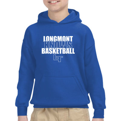 Longmont Knows Basketball White - Heavy Blend™ Youth 8 oz., 50/50 Hood Thumbnail