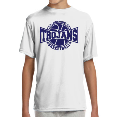 LHS Basketball - (S) Youth Shorts Sleeve Cooling Performance Crew Ligh Color Shirt Thumbnail