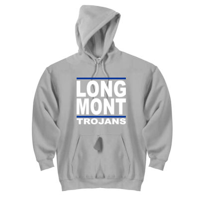 LONG MONT Trojans - DryBlend™ Pullover Unisex Hooded Sweatshirt Thumbnail