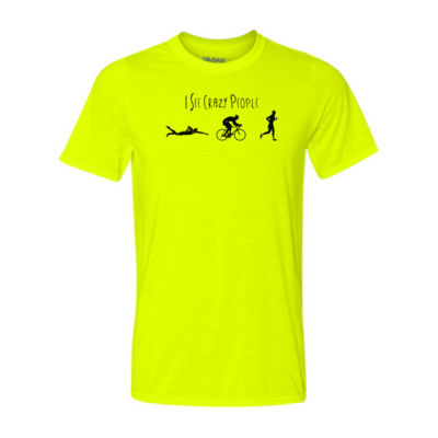 I See Crazy People Male Triathlon Icons - Light Youth/Adult Ultra Performance 100% Performance T Shirt Thumbnail
