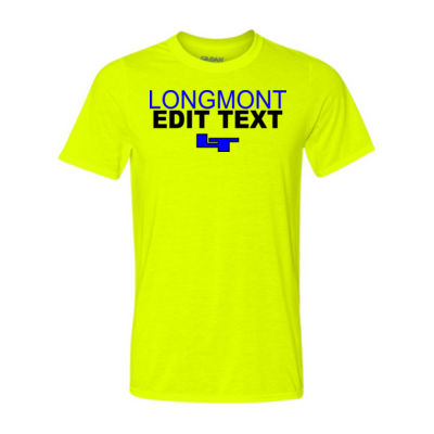 Custom Longmont High School Sports, Club or Activty  - Light Youth/Adult Ultra Performance 100% Performance T Shirt Thumbnail