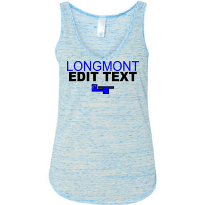 Custom Longmont High School Sports, Club or Activty  - Ladies' Flowy V-Neck Tank Thumbnail