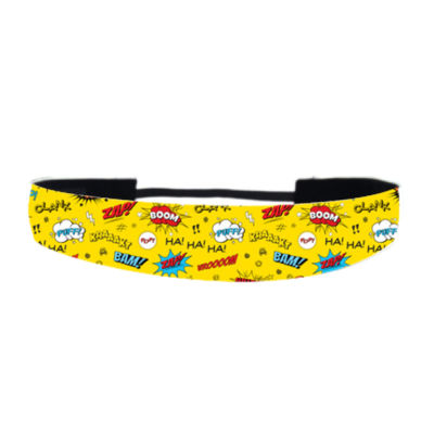 Comic Adventure Yellow - Non Slip Adjustable Headband Thumbnail