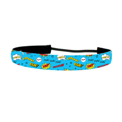 Comic Adventure Blue - Non Slip Adjustable Headband Thumbnail